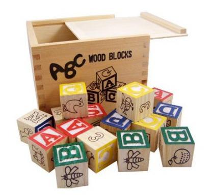 juguetes didácticos - cubos de madera