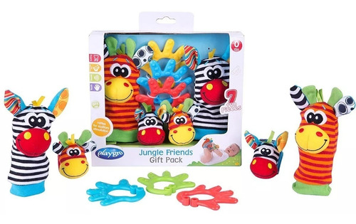 juguetes didácticos playgro jungle friends gift pack