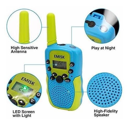 juguetes emisk para niños de 312 años, niñas, walkie talk