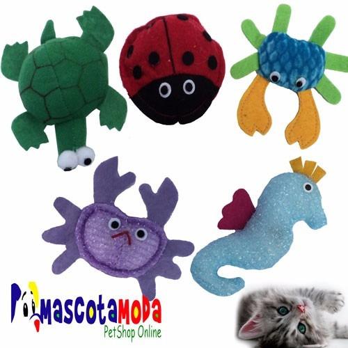 juguetes en peluche para gato 5 unidades variadas