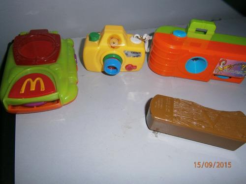 juguetes mcdonald´s / nestlé lote x4