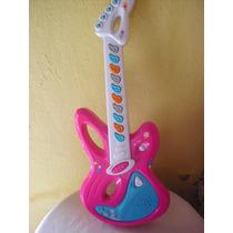 Guitarra Barbie. Usa Baterías. En Buen Estado.