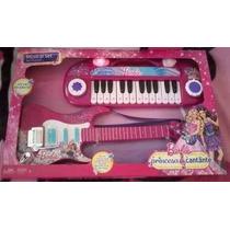 Set Musical Barbie Princesas Guitarra Y Piano Nuevo