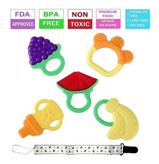 Beb/é Mordedor suave Silcone libre de BPA Beb/é de la dentici/ón de juguete conejo de la manija para el beb/é