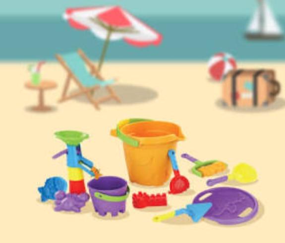 Vacaciones Cubeta Niños Juguetes Para Playa EIH9D2