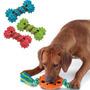 ¡ Juguete Plástico Goma Mascota Huesos Perro Gato Nuevos !!