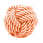 ¡ Juguete Pelota Trapo Tejido Lazo Algodón Perro Naranja !!