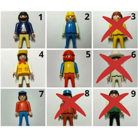 Juguetes Playmobil Hombres Y Mujeres Año 1974