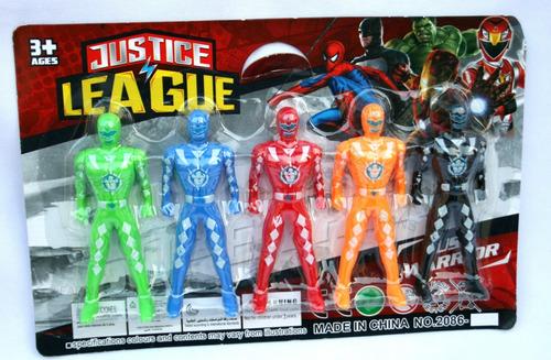 juguetes power rangers set 5 muñeco figuras niño