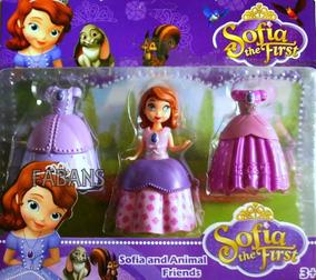 Muñeca Set Juguetes Niña 3 Vestido Princesa Sofia Con Pnk0wO
