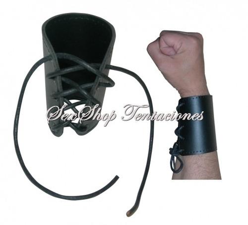 juguetes sexshop bdsm articulos muñequera leather cod.3086