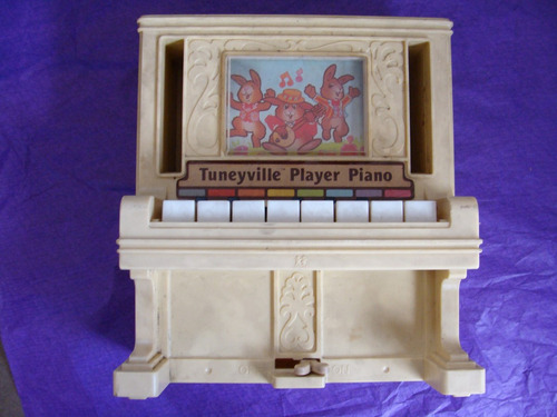 juguetes, tuneyville player piano, 1978, marca tomy, le falt