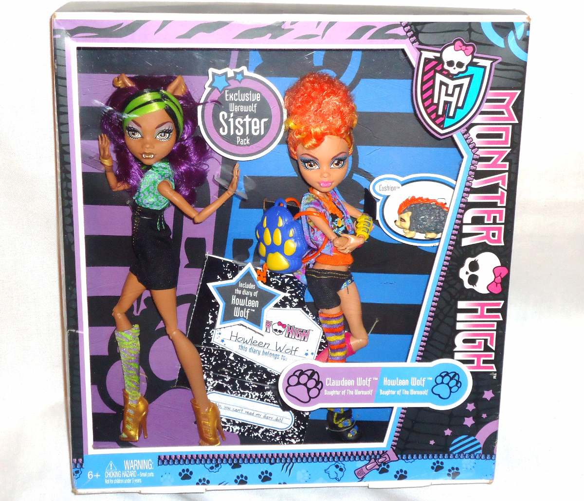 juguetibox monster high clawdeen y howleen wolf 1er edicion en mercado libre. Black Bedroom Furniture Sets. Home Design Ideas