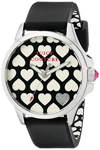 juicy couture 1901220 jetsetter analog display quartz black