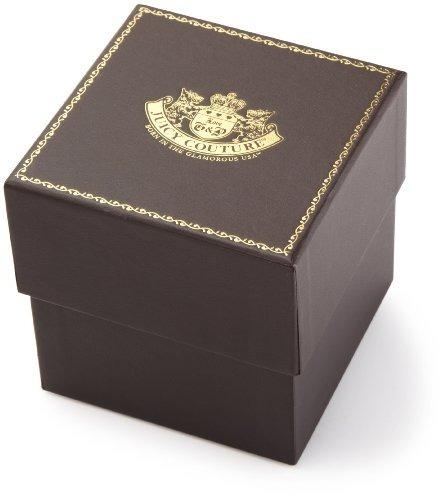 juicy couture - reloj casual de acero inoxidable y cuero con