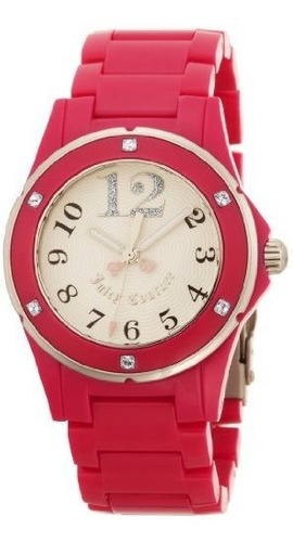 juicy couture - reloj casual de cuarzo rich girl para