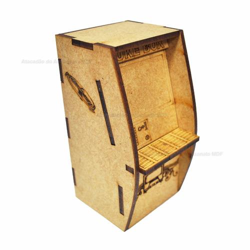 juke box miniatura polly brinquedo 3d laser mdf madeira