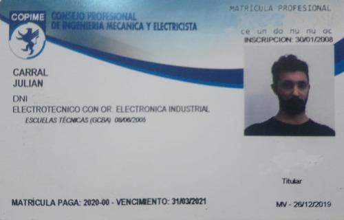 julian carral electricista matriculado profesional