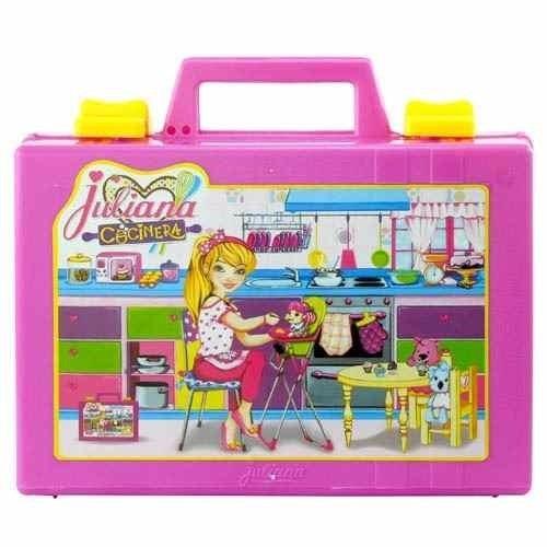 juliana cocinera valija chica varios accesorios tv educando
