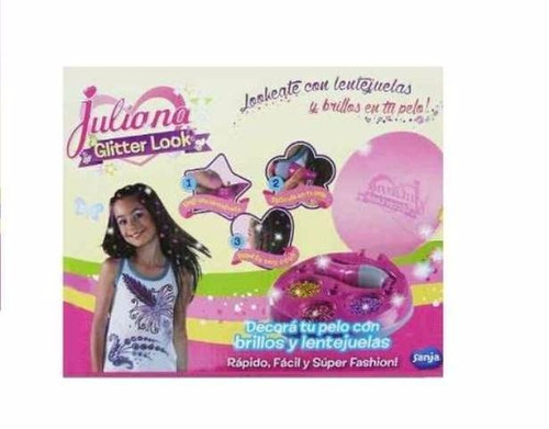 juliana glitter look apliques cabello - jugueteria aplausos