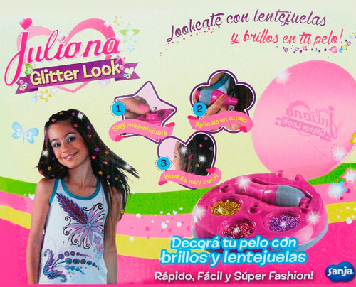 juliana glitter look apliques re utilizables para pelo