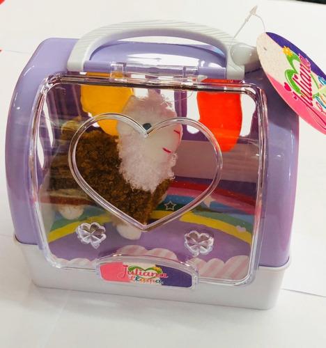 juliana peluche mascota llama con accesorios y valija