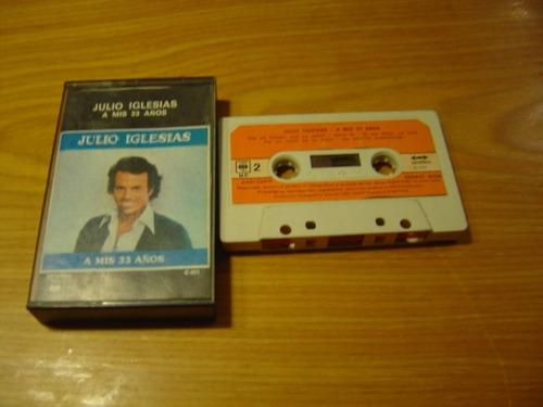 julio iglesias a mis 33 años cassette argentina