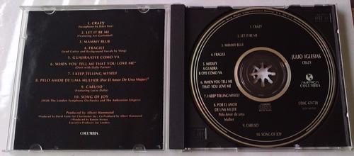 julio iglesias crazy cd made in mexico 1a ed 1994  bvf