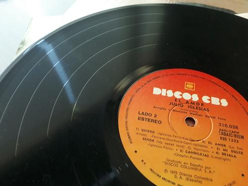 julio iglesias - el amor - disco vinilo