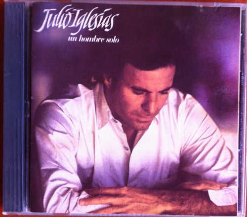 julio iglesias. un hombre solo. cd original, usado