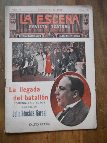 julio sanchez gardel. la llegada del batallon. 1919.