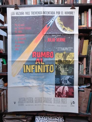 julio verne rumbo al infinito. afiche cine original