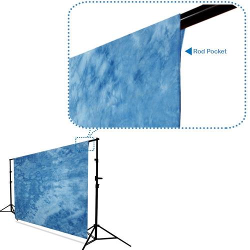 julius studio 6 x 9 ft. patrón tie dye dark sky blue, deep b