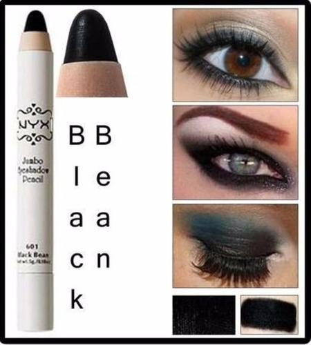 jumbo nyx sombra black bean eye pencil - lápis - preto