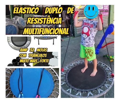 jump ginastica 150 kg+2 elasticos duplo p/exercicios+brinde
