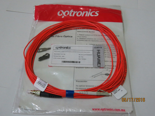 jumper de fibra optica optronics 10mts.