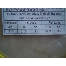 Jumper Fc/apc-sc/apc 2mm 3mts Os2 Lszh Sellado
