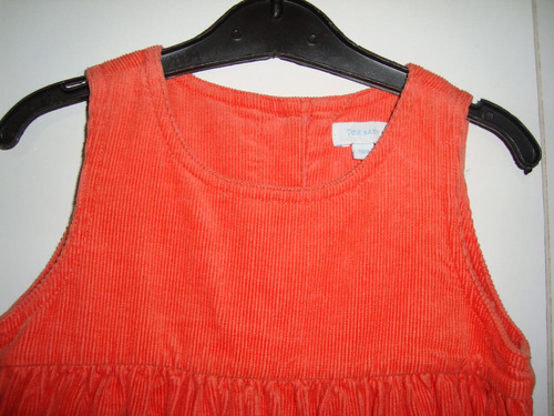 jumper/vestido pana fina 12-18 meses