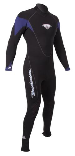 jumpsuit h2 3mm de henderson para hombre (negro-azul, pequeñ