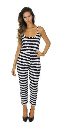 jumpsuit  para dama blanco  negro mod d1020f