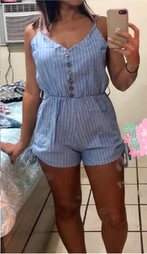 jumpsuit para playa a rayas bikini azul