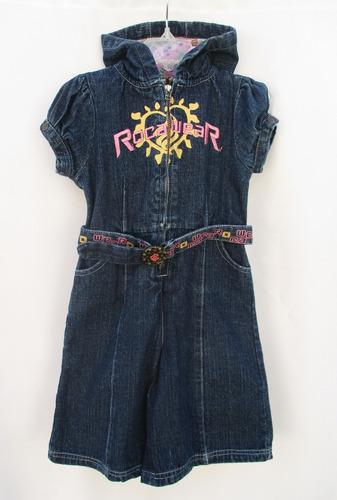 jumpsuit short  mezclilla niña talla 3 años rocawear
