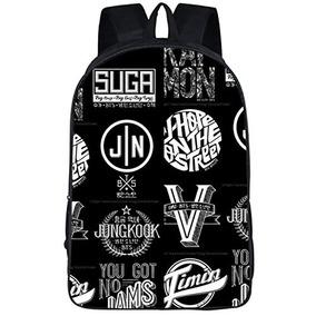 16f802aeaf4c Jung Kook Kpop Bts Got7 Backpack School Bag Bangtan Boys Mes