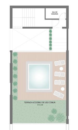 junin 362 piso exclusivo con patio 2 dormitorios en 1er piso