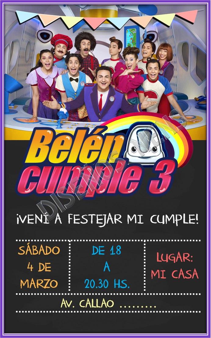Junior Express Topa Invitación Digital Imprimible Cumpleaños