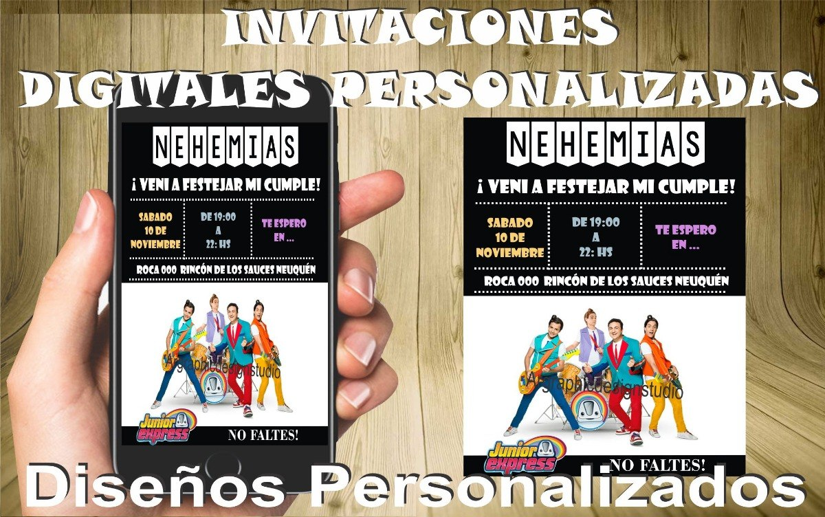 Juniors Express Invitaciones Tarjetas Digitales Cumpleaños