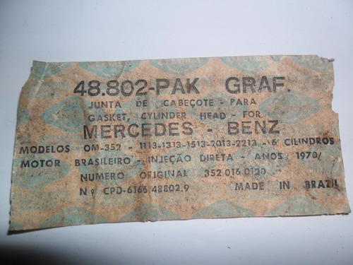 junta cabeçote: mercedes benz om-352 / 1113 / 1313 / 1513 /