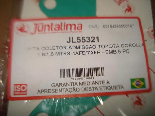 junta coletor admissao toyota corola 1.6 1.8 16v 7a-fe