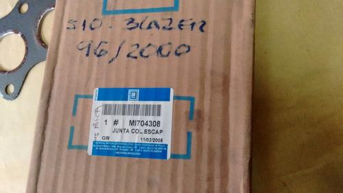 junta coletor escapamento s10 blazer 96 a 2000 original gm