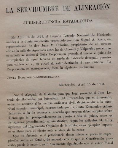 junta ec administrativa la servidumbre de alineacion 1901
